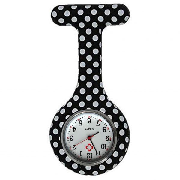 Verpleegkundig horloge zwart met witte stippen kopen
