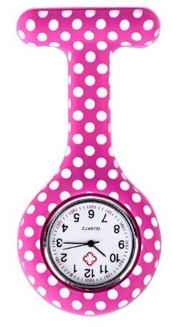 Verpleegkundig horloge roze met witte stippen kopen