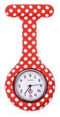Verpleegkundig horloge rood witte stippen kopen