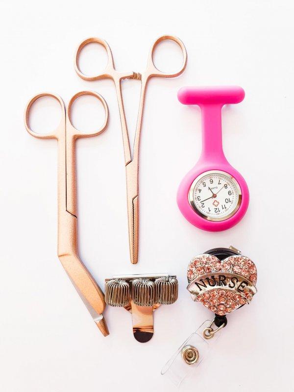 Verpleegkundige cadeauset roze kopen